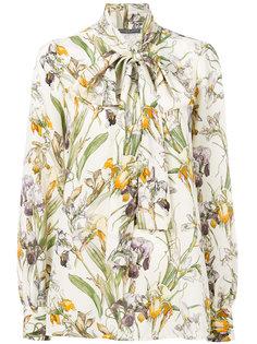 блузка с бантом Wild Iris Alexander McQueen