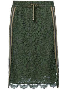 lace and stripe panel skirt Luisa Cerano