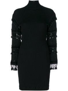 платье с отделкой и высоким воротником  Jean Paul Gaultier Vintage