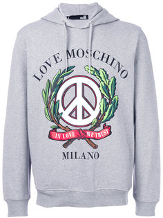 In Love We Trust hoodie Love Moschino