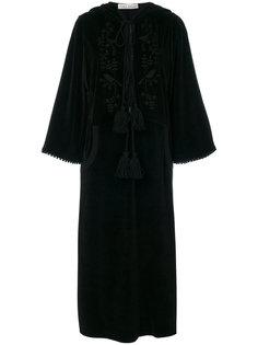 бархатное платье с вышивкой  Veronique Branquinho