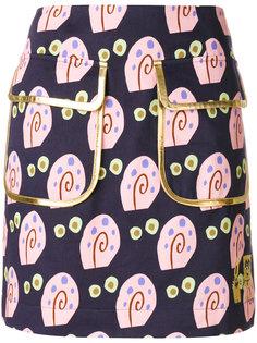 юбка с двумя карманами с принтом Gary  Peter Jensen