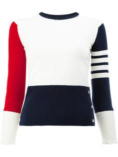 """свитер дизайна """"колор-блок"""" Thom Browne"""