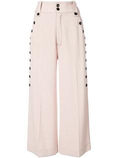 широкие брюки с пуговицами сбоку Derek Lam 10 Crosby