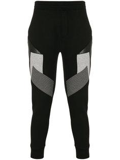 спортивные брюки в стиле колор блок Neil Barrett