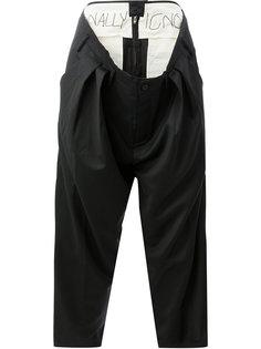 брюки с многослойной деталью на талии Moohong