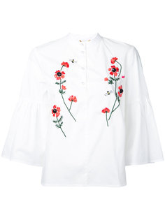 блузка с вышитыми цветами Muveil