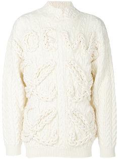 свитер с вязкой косичками Loewe