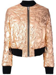 стеганая куртка-бомбер со звездами  MSGM