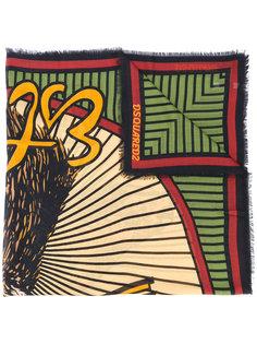 шарф с рисунком Dsquared2