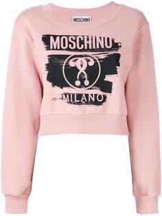 укороченная толстовка с логотипом  Moschino