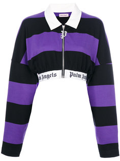 striped cropped jacket Palm Angels