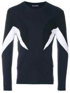 панельный свитер в геометрическом дизайне Neil Barrett