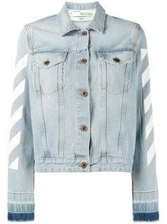 джинсовая куртка в полоску  Off-White