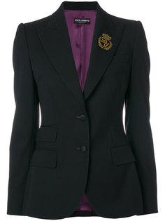 пиджак с вышитым логотипом Dolce & Gabbana