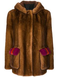 fur detail coat  Blancha