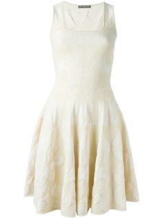 жаккардовое вязаное платье  Alexander McQueen