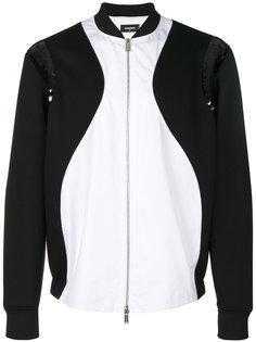 куртка-бомбер с вставками из пайеток Dsquared2