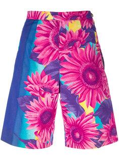 шорты с цветочным принтом  Versace Vintage