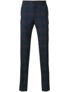 брюки с принтом в клетку Etro