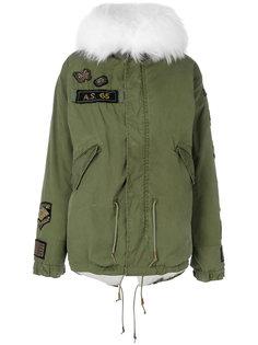 pony fur hooded jacket As65