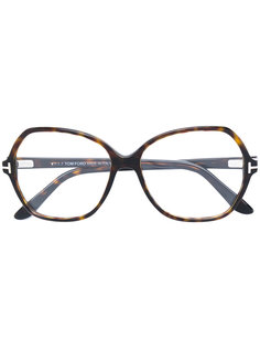 tortoiseshell oversized glasses Tom Ford Eyewear