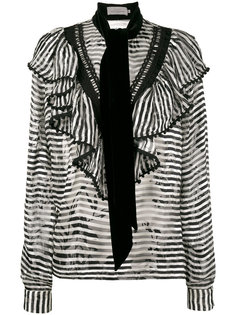 полосата блузка с шарфом Phillipa Preen By Thornton Bregazzi