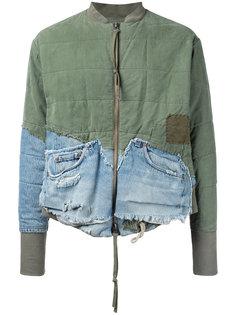 лоскутная куртка бомбер Greg Lauren