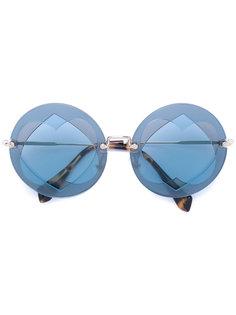 солнцезащитные очки Azure Miu Miu Eyewear