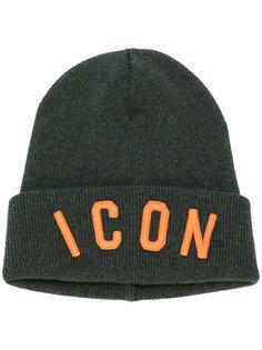 шапка с вышивкой ICON Dsquared2