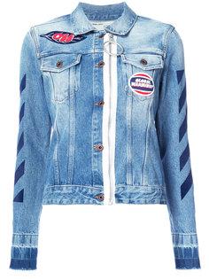 джинсовая куртка с заплатками Off-White