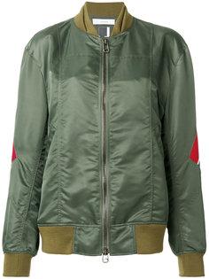 stripe detail bomber jacket Facetasm