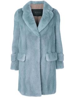 belted long fur coat Blancha