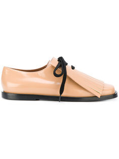 туфли на шнуровке с оборками  Marni