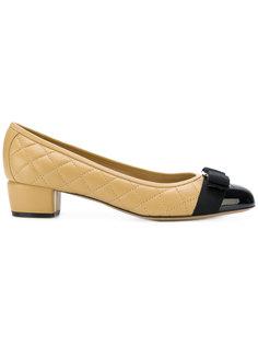 туфли с контрастным носком Salvatore Ferragamo