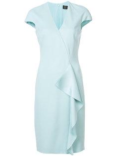платье шифт с оборками Versace