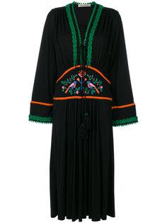 платье с длинными рукавами и вышивкой  Veronique Branquinho