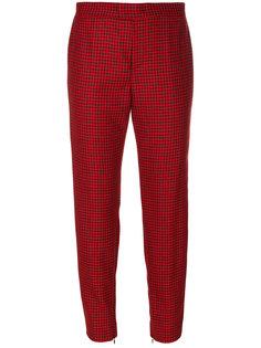 укороченные брюки в ломаную клетку  Red Valentino