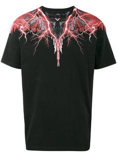 футболка с красным принтом молний Marcelo Burlon County Of Milan