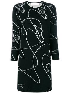 Scribble Swan jumper dress Victoria Victoria Beckham