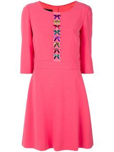 расклешенное платье с вышивкой Boutique Moschino