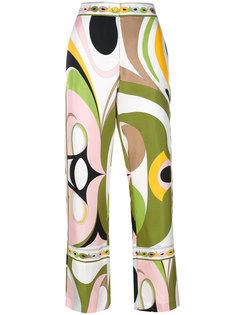 пижамные брюки с абстрактным принтом  Emilio Pucci