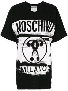 объемная футболка с принтом логотипа Moschino