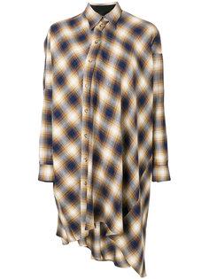 платье-рубашка в клетку Mm6 Maison Margiela