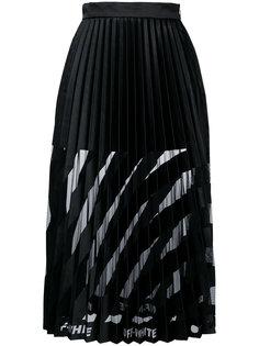 плиссированная юбка-миди Off-White