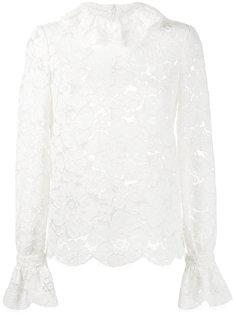 кружевная блузка с цветочной отделкой  Philosophy Di Lorenzo Serafini