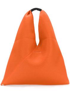 треугольная сумка-тоут с перфорацией  Mm6 Maison Margiela