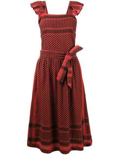 платье на лямках с зигзагообразным узором Cecilie Copenhagen