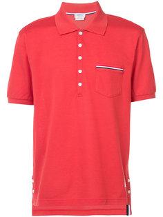 рубашка-поло с отделкой в полоску Thom Browne
