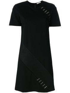 платье-футболка с металлической отделкой Versace Collection